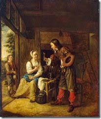Hooch_Pieter_de-ZZZ-Soldier_Offering_a_Woman_a_Glass_of_Wine