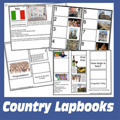 {free} country lapbooks