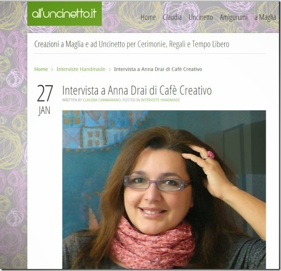 cafe creativo - anna drai  - intervista all'uncinetto