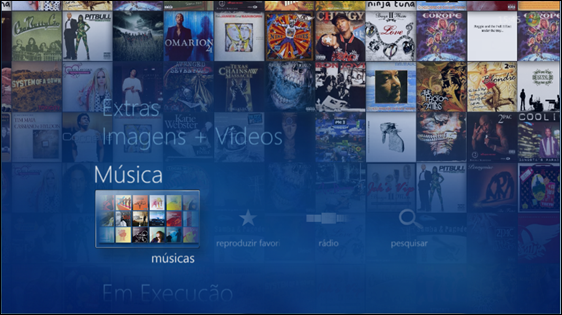 Biblioteca de Músicas - Windows Media Center