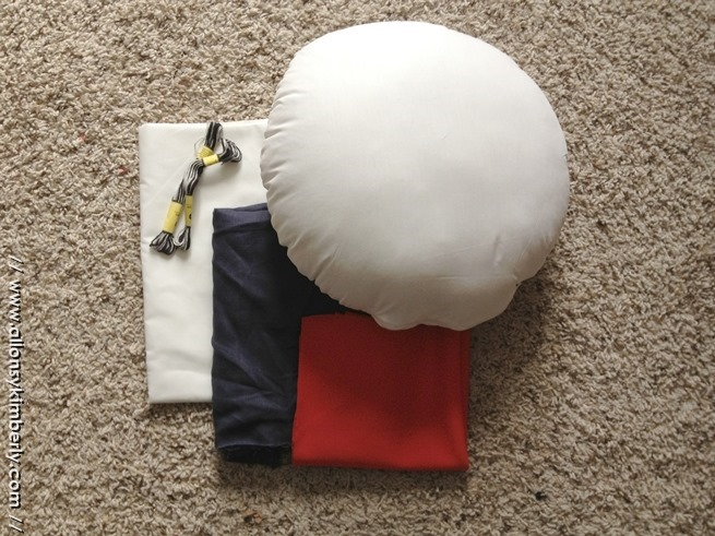 DIY: Peppermint Butler Pillow | allonsykimberly.com