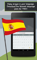 Screenshot of Spanish for ai.type Keyboard