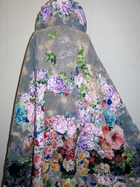 fabric art roses