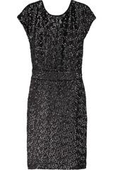 Karl Donna sequined crepe dress