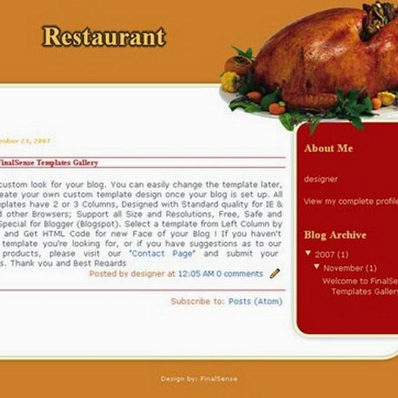 I migliori temi Blogger per creare un Blog di Cucina.