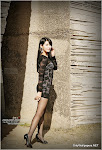Cha Sun Hwa 2010.11.13 - See thru black mini dress
