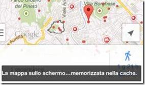 Mappa salvata nella cache Google Maps