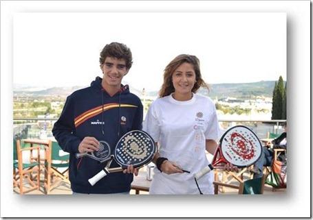 Juan lebrón y Paula Delgado