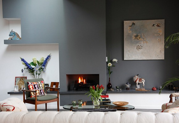 House-tour-gray-accent-wall-simple-fireplace