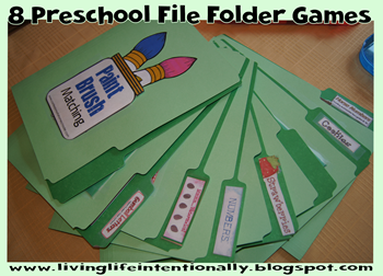 8 Preschool File Folder Games our family loves