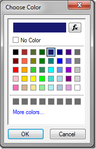 Choosing a different color.