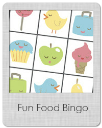 fun food bingo