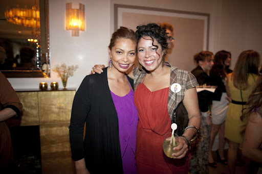 Evette Rios, correspondent on ABC's The Chew, and Yesenia De Avila. Very exciting: Evette is getting married soon!