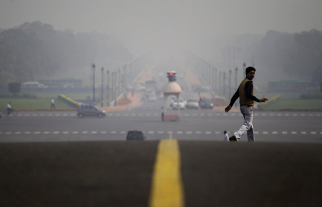 New Delhi is enveloped by a blanket of smog, caused by a mixture of pollution and fog. Air pollution has worsened markedly in Asian cities in recent years and presents a growing threat to human health, according to experts at a conference that began on 6 December 2012. Pollution levels in 70 percent of the cities in China, India, Bangladesh and Mongolia exceed even the most lenient of several targets recommended by the W.H.O., said Clean Air Asia. Altaf Qadri / Associated Press