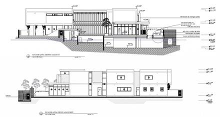 Planos y elevaciones recomendados casa f arquitexs for Arquitectura moderna planos