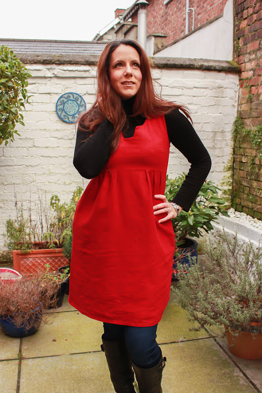 Su Sews So So Red Washi Dress 1