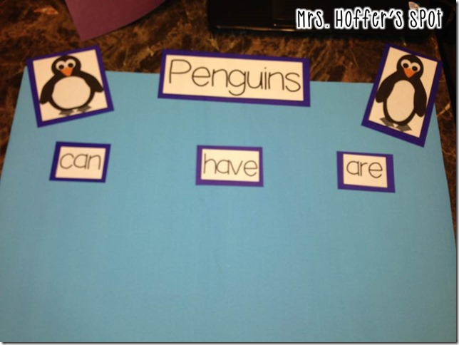 Can/Have/Are chart with penguins. There is also an interactive page as well.