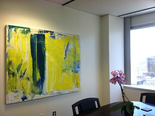 Lindsay Cowles Abstract Painting | RMA installation