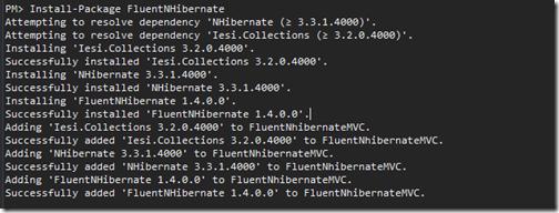 nuget-package-manager-adding-fluent-nhibernate