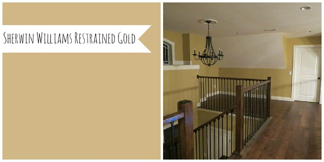 Sherwin Williams Restrained Gold (Let's Just Build a House)
