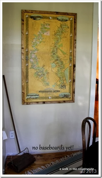 framed map of the Mississippi River Plantations
