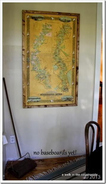 framed map of the Mississippi River Plantations