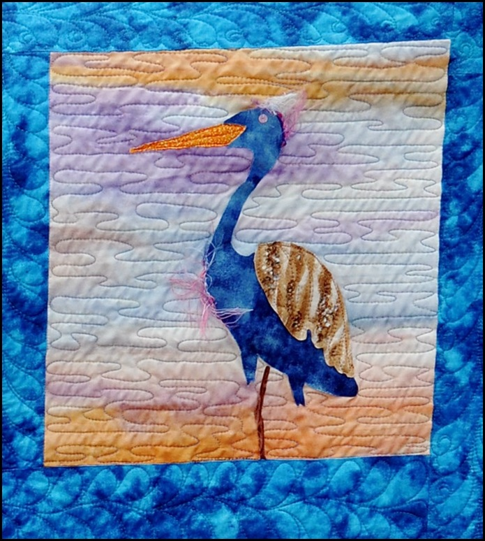 Blue Heron block