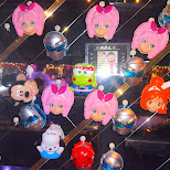 cute mirror with little sticky faces at Maharaja in Roppongi, Tokyo, Japan