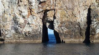 Northern Arch, wo wir auch tauchen, die Kamera aber nicht funktioniert.