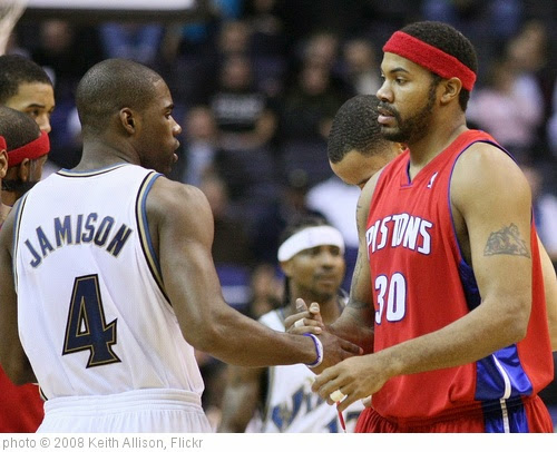 'Antawn Jamison and Rasheed Wallace' photo (c) 2008, Keith Allison - license: https://creativecommons.org/licenses/by-sa/2.0/
