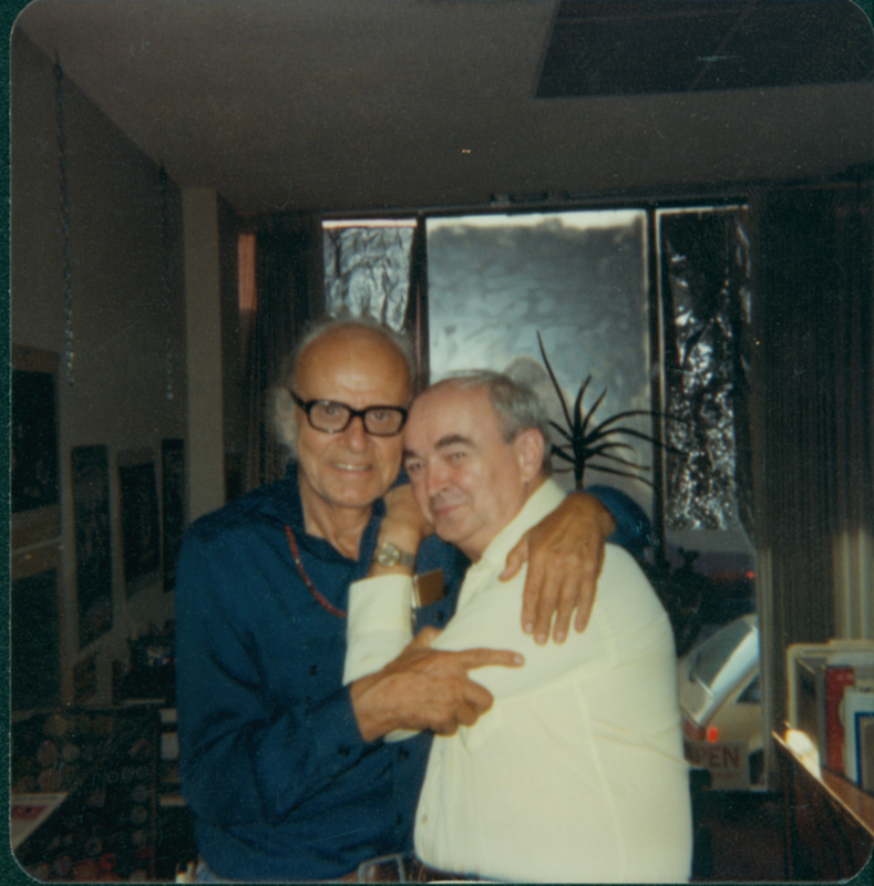 Harry Hay (left) and Jim Kepner. 1981.