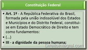 Constituição Federal - Art. 1, III
