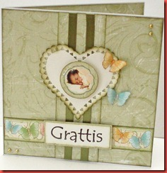 Grönt baby kort