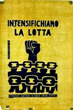 """Manifesti del Movimento Studentesco di Bologna, 1968 """"Intensifichiamo la lotta"""""""