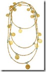 Azuni long coin necklace