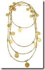 Azuni long coin necklace