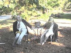 11.2011 Wellfleet Halloween yard1