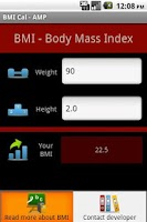 Screenshot of BMI Cal - AMP