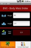 Screenshot of BMI Cal - AMP