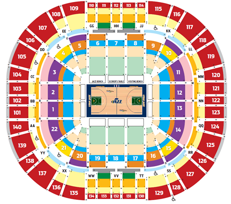 Utah Jazz Seating Chart