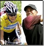 Tiger Woods and Lance Armstrong