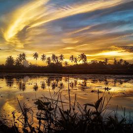 Refleksi Senja 1 by Randi Pratama M - Instagram & Mobile Android ( reflection, sunset,  )