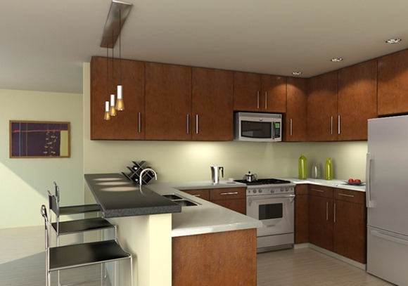 20 modelos de cocinas con bar multifuncionales idecorar for Buscar cocinas modernas