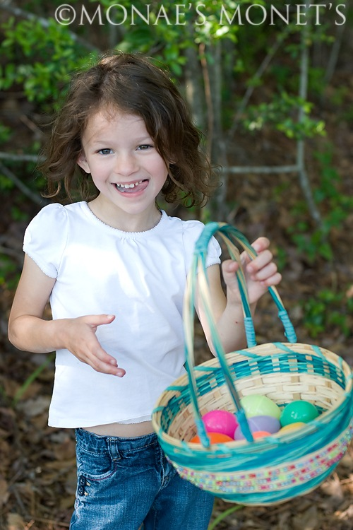 Abby with easter basket blog