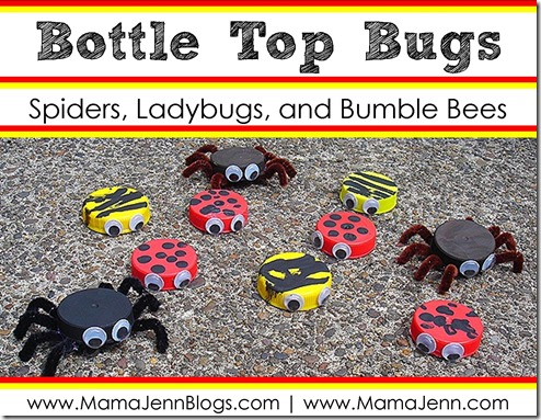 Bottle Top Bug Craft (Ladybugs, Spiders, Bumble Bees)