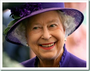 QE2 smiling