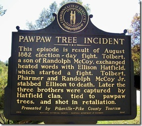 Pawaw Tree Incident marker 2047 near Buskirk, KY