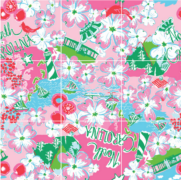 Lilly Pulitzer State Print, North Carolina