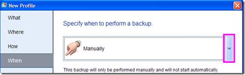 BitReplica metodo di avvio del backup