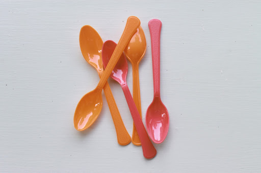 Plastic spoons leftover from my high school graduation (in 2003!)